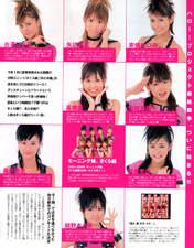 Niigaki Risa,   Kamei Eri,   Abe Natsumi,   Konno Asami,   Yaguchi Mari,   Yoshizawa Hitomi,   Kago Ai,   Morning Musume Sakura Gumi,   Magazine,   Takahashi Ai,
