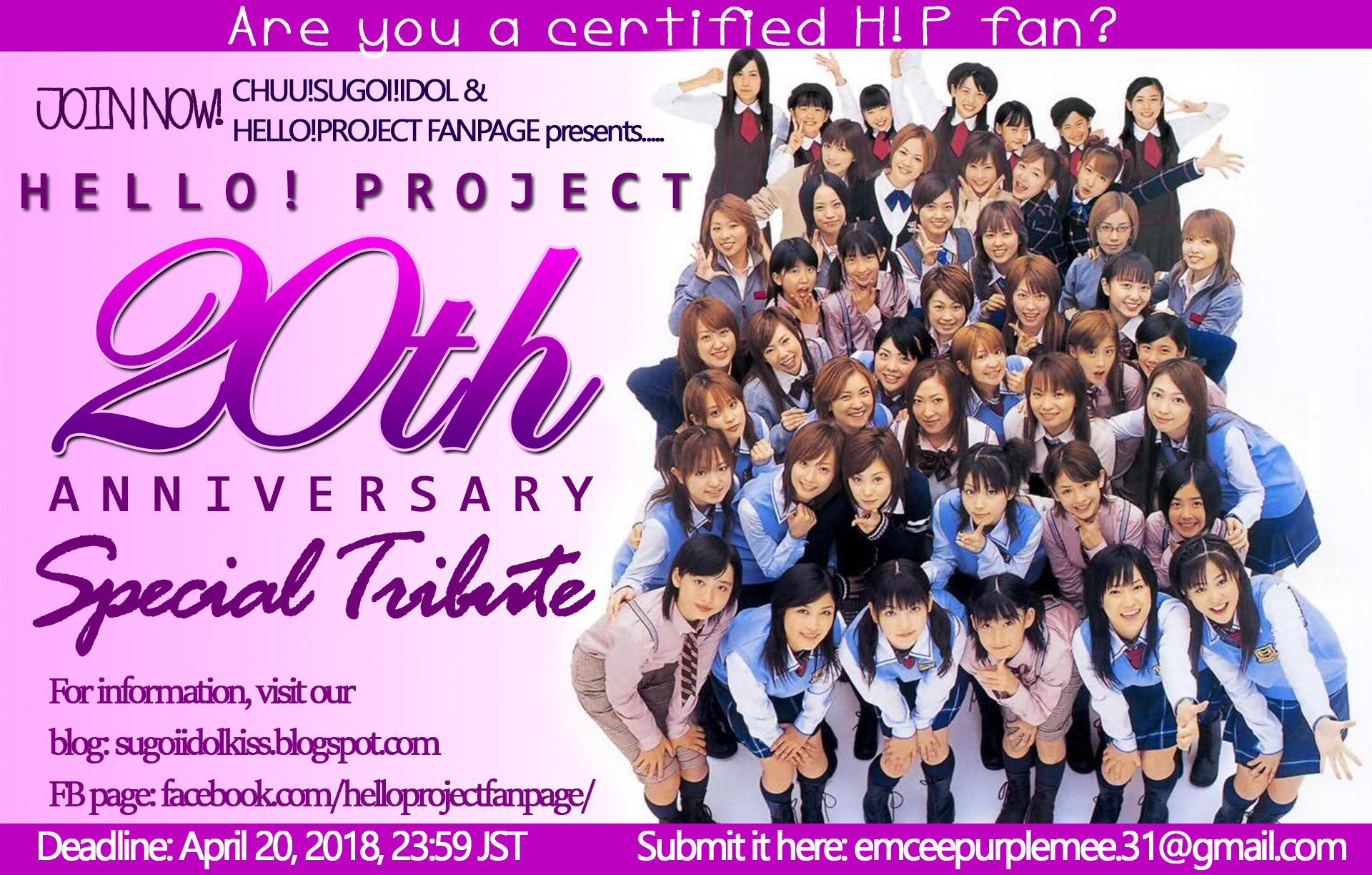 Hello!Project 20th Anniversary: Special Tribute plan!