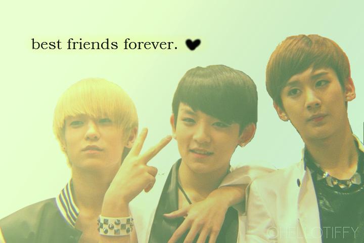 best friends: ricky, l. joe, chunji <3