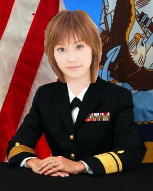 Rear Admiral Takahashi Ai in her Naval dress blues