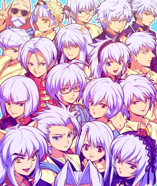 white haired manga characters