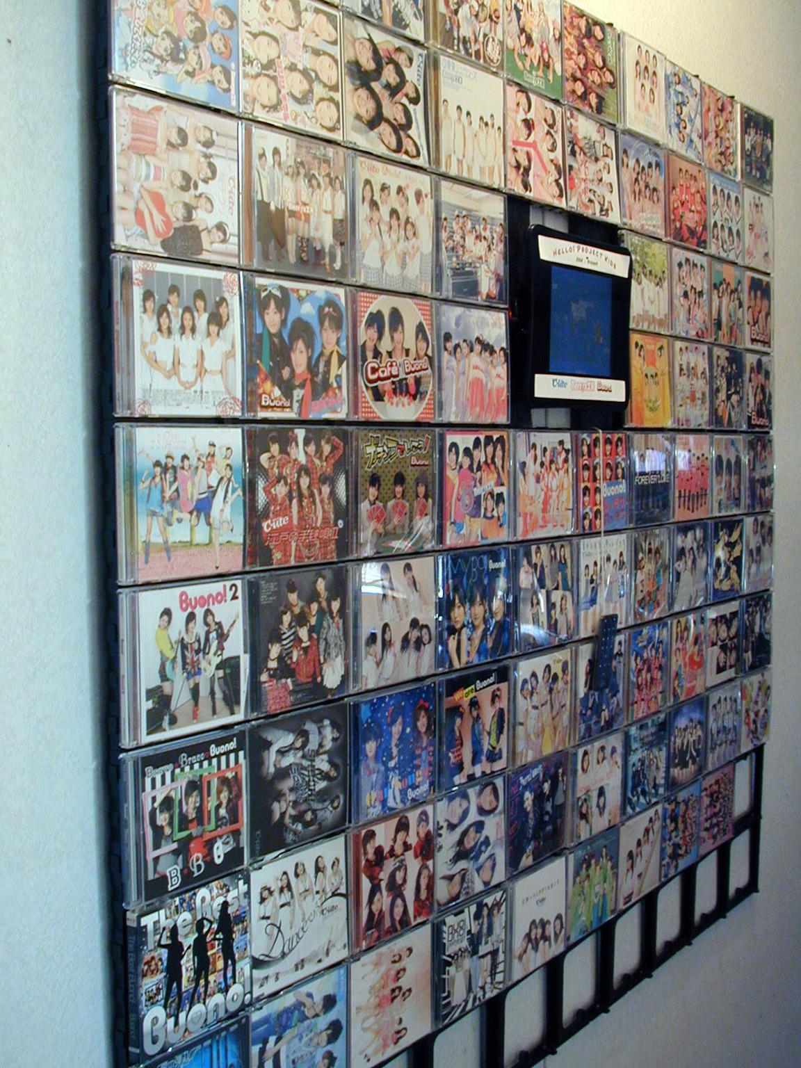 Berryz/C-ute/Buono! single discography wall display